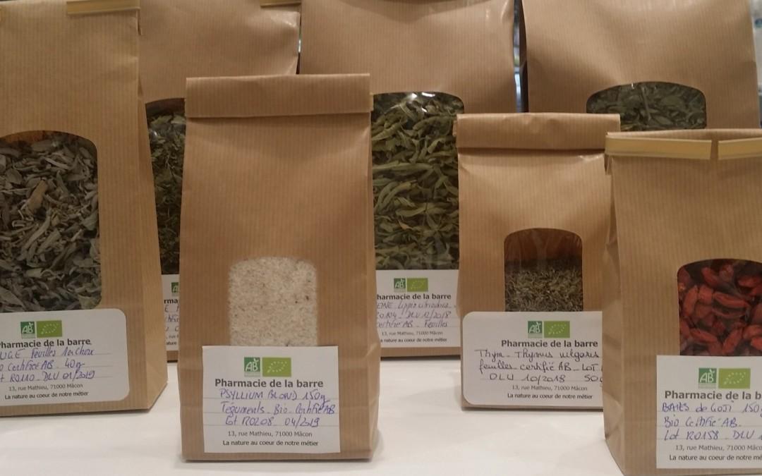 Les médecines naturelles à la pharmacie de la barre : Phytothérapie, Herboristerie, Aromathérapie.
